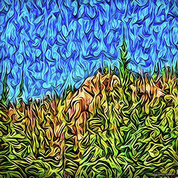 Digital Art - Abstract Mountain Radiance by Joel Bruce Wallach