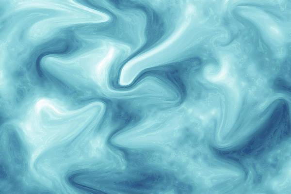 Abstract Navy Blue Liquid Art Print