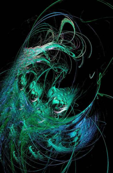 Digital Art - Abstract Octopus Fractal Art Green by Don Northup