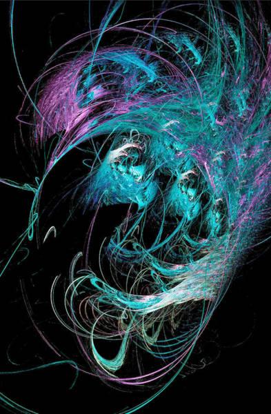 Digital Art - Abstract Octopus Fractal Art Light Blue by Don Northup