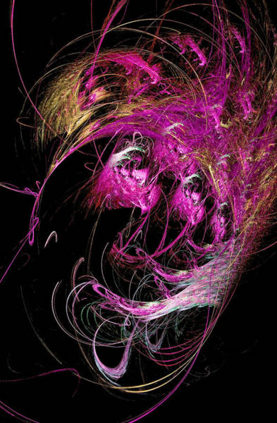 Digital Art - Abstract Octopus Fractal Art Pink by Don Northup