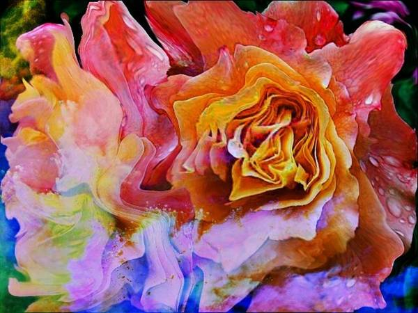 Mixed Media - Abstract Of Rose by AE collections