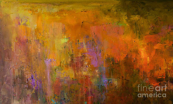 Wall Art - Photograph - Abstract Oil Painting Background. Oil by Anton Evmeshkin