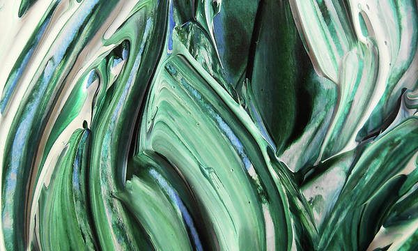 Painting - Abstract Organic Lines The Flow Of Blue And Green  by Irina Sztukowski
