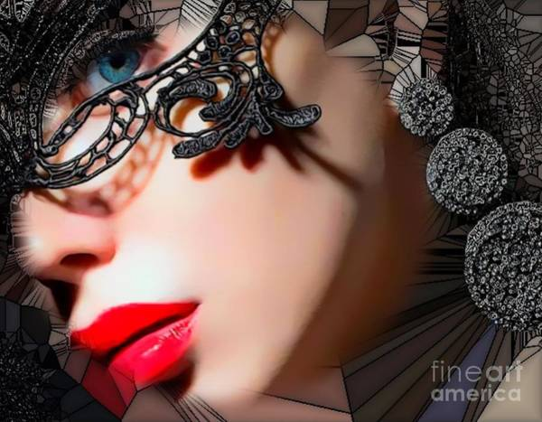 Digital Art - Abstract Painiting She Her Lady Chic Gal Woman Hear Me Rarrr by Catherine Lott