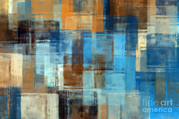 Torn Digital Art - Abstract Painting. Colored Grunge by Husjak