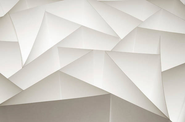 White Background Photograph - Abstract Paper Design by Paul Taylor