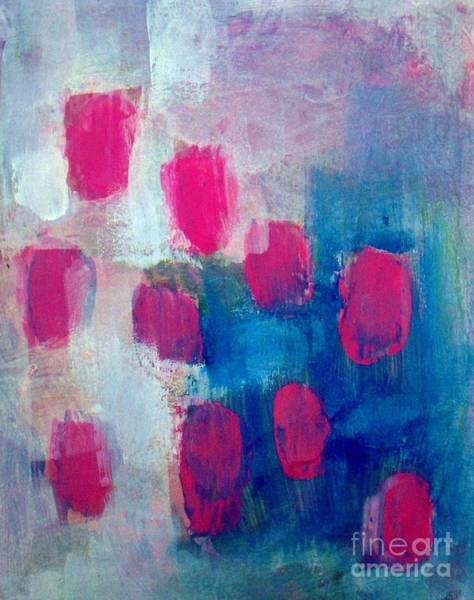 Wall Art - Painting - Abstract - Pink Blue White by Vesna Antic