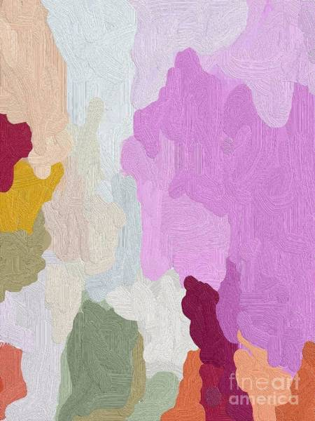 Scandinavian Style Painting - Abstract Pink - Textured by Vesna Antic