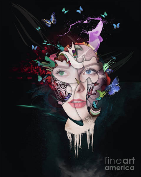 Wall Art - Painting - Abstract Portrait Number Seventeen by Erik Brede