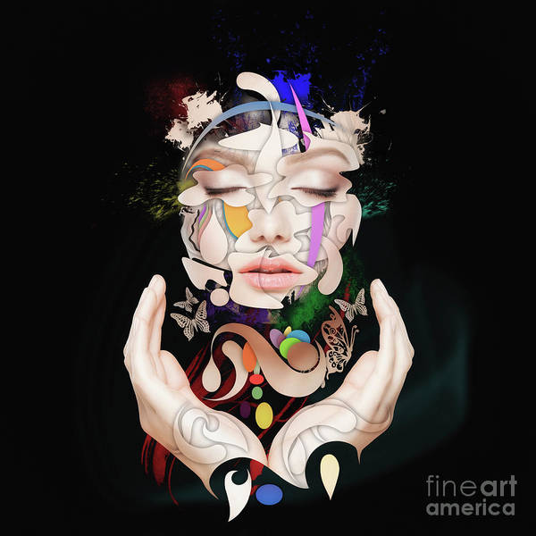 Wall Art - Painting - Abstract Portrait Number Sixteen by Erik Brede