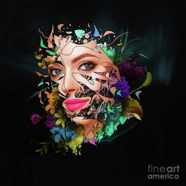 Wall Art - Painting - Abstract Portrait Number Thirteen by Erik Brede