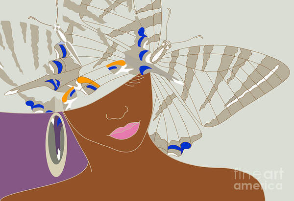 Wall Art - Digital Art - Abstract Portrait Of An African Woman by Viktoriya Pa
