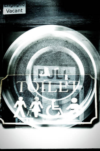 Wall Art - Photograph - Abstract Public Toilet Sign by David Ridley