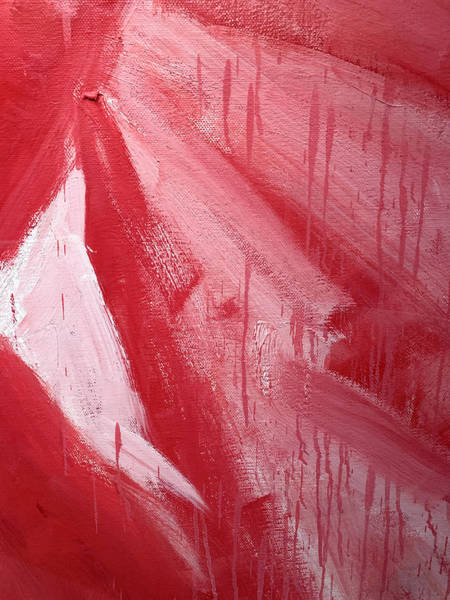 Photograph - Abstract Red Paint by Marilyn Hunt