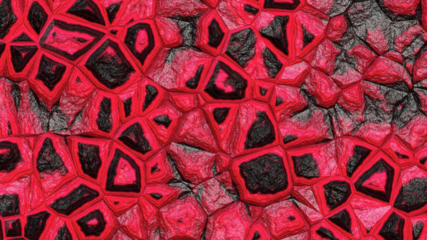 Digital Art - Abstract Red Stone Wall by Don Northup