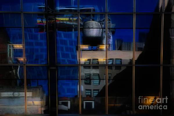 Wall Art - Digital Art - Abstract Reflection Nyc Architecture  by Chuck Kuhn