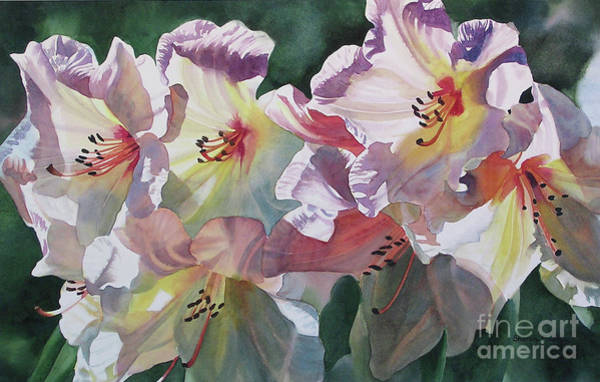 Wall Art - Painting - Abstract Rhododendron by Sharon Freeman