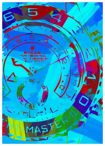 Wall Art - Digital Art - Abstract Rolex Digital Paint 11 by Ricky Barnard