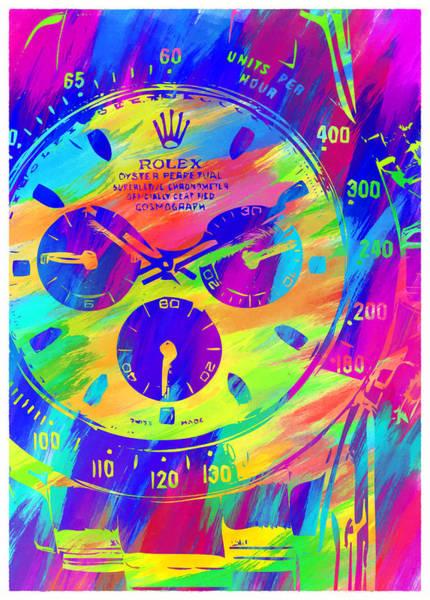 Wall Art - Digital Art - Abstract Rolex Digital Paint 2 by Ricky Barnard