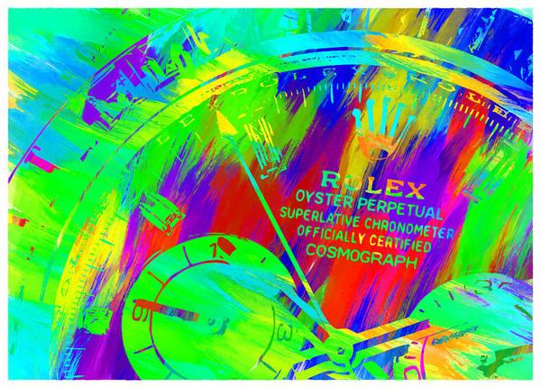 Wall Art - Digital Art - Abstract Rolex Digital Paint 3 by Ricky Barnard