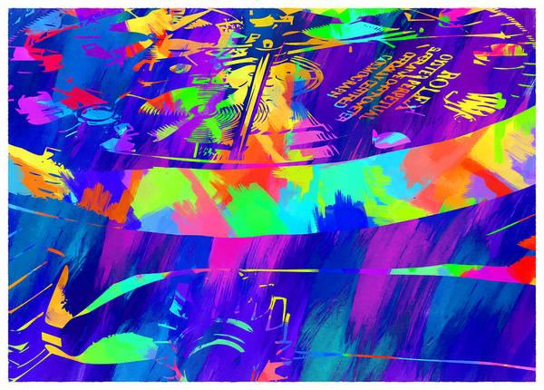 Wall Art - Digital Art - Abstract Rolex Digital Paint 4 by Ricky Barnard