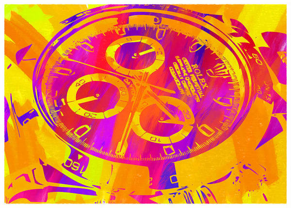 Wall Art - Digital Art - Abstract Rolex Digital Paint 5 by Ricky Barnard