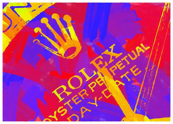 Wall Art - Digital Art - Abstract Rolex Digital Paint 6 by Ricky Barnard