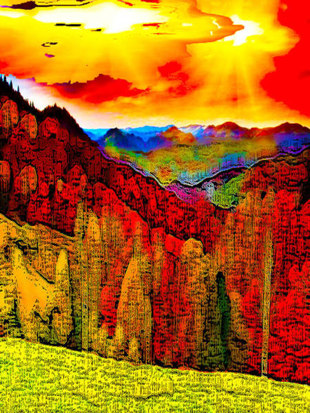 Journalist Digital Art - Abstract Scenic 3a by Bruce Iorio