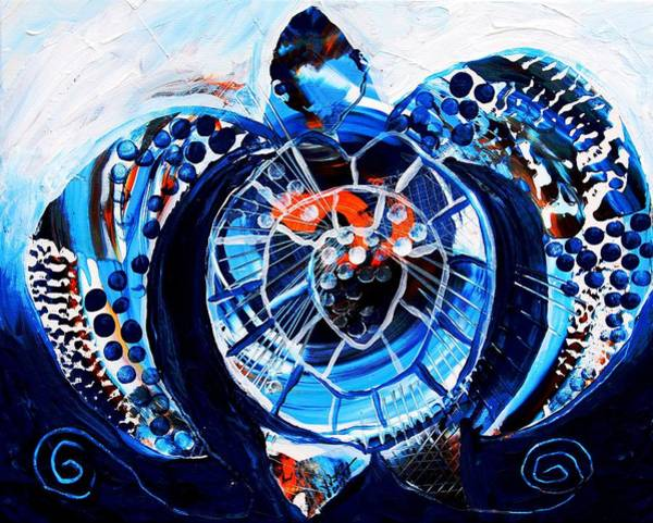 Painting - Abstract Seal Point In Blue by J Vincent Scarpace