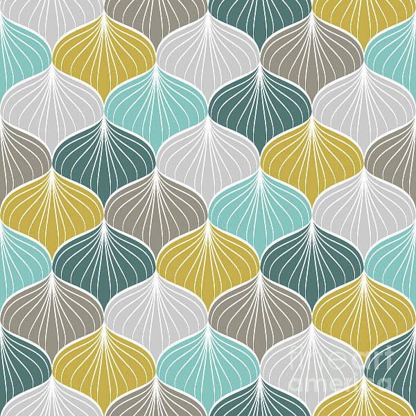 Wall Art - Digital Art - Abstract Seamless Pattern.vector by Nadyajema