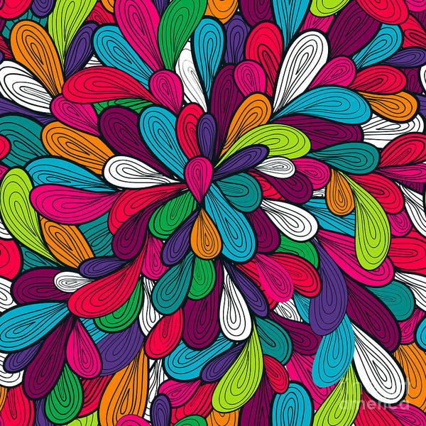 Abstract Seamless Vector Texture Art Print