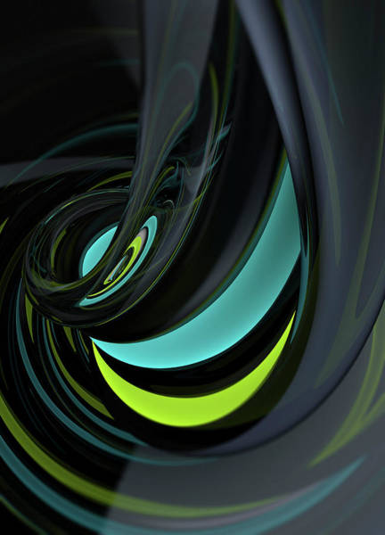 Wall Art - Photograph - Abstract Shiny Swirl Pattern by Ikon Images