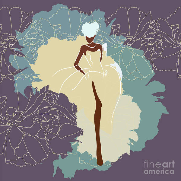 Wall Art - Digital Art - Abstract Sketch Of A Woman In A Wedding by Viktoriya Pa