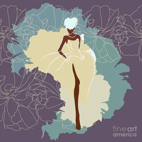 Wall Art - Digital Art - Abstract Sketch Of A Woman In A Wedding by Viktoriya Pa