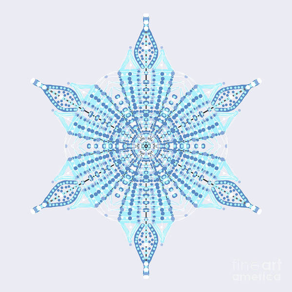 Painting - Abstract Snowflake by Catherine Lott
