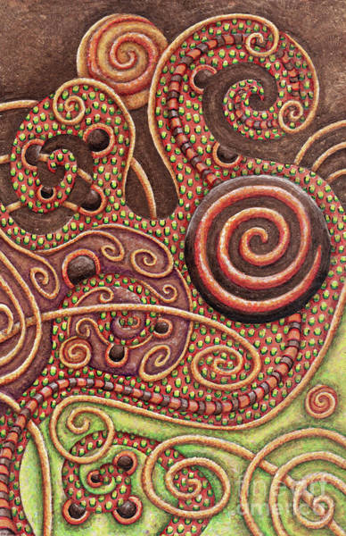 Painting - Abstract Spiral 11 by Amy E Fraser