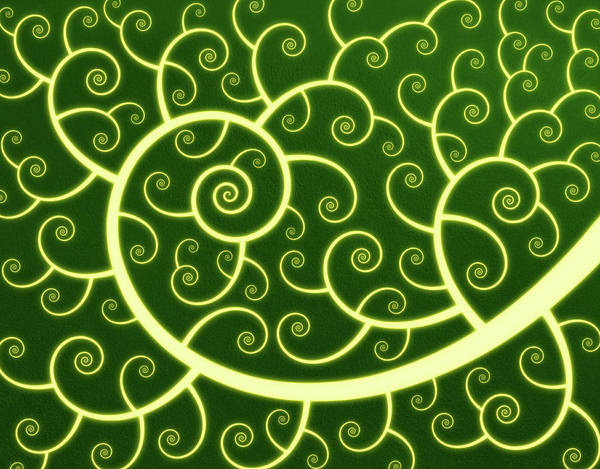 Horizontal Abstract Digital Art - Abstract Spiral Background by Chad Baker