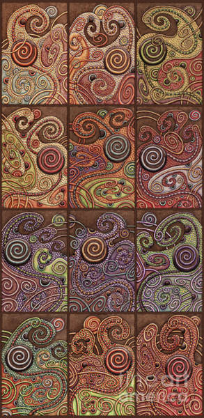 Painting - Abstract Spiral Set 1 by Amy E Fraser