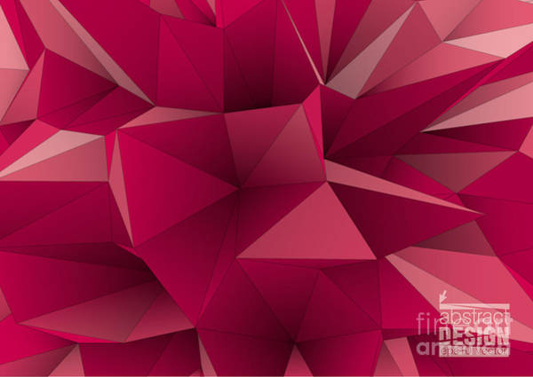 Office Digital Art - Abstract Triangular  Crystalline by Archetype