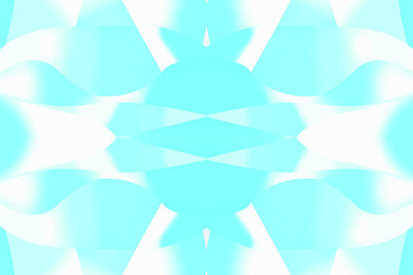 Wall Art - Photograph - Abstract Turquoise Symmetrical Pattern by Ikon Images