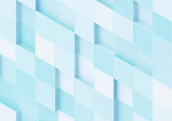 Wall Art - Photograph - Abstract Wall Of Uneven Square Blocks by Ikon Images