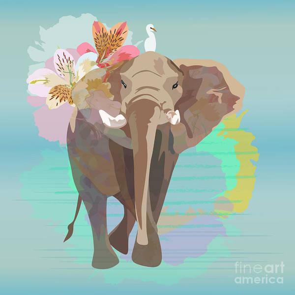 Wall Art - Digital Art - Abstract Watercolor  Illustration Of A by Viktoriya Pa