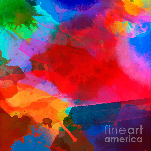 Wall Art - Digital Art - Abstract Watercolor Palette Of  Blue by Vikpit