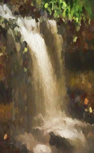 Painting - Abstract Waterfall by Dan Sproul