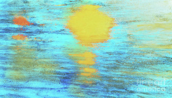 Variation Mixed Media - Abstract Watery Sunset 300 by Sharon Williams Eng