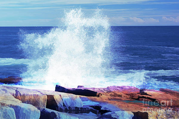 Photograph - Crashing Waves At Schoodic Point Abstract by Anita Pollak