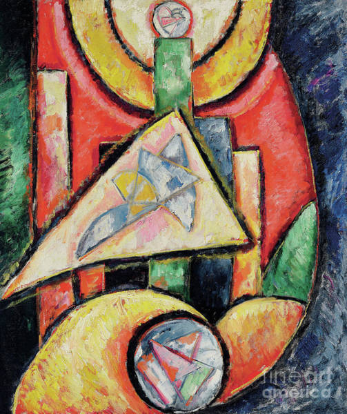 Wall Art - Painting - Abstraction, 1912-13  by Marsden Hartley