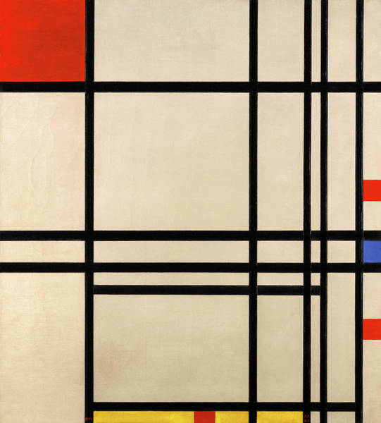 Color Block Painting - Abstraction, 1939 by Piet Mondrian