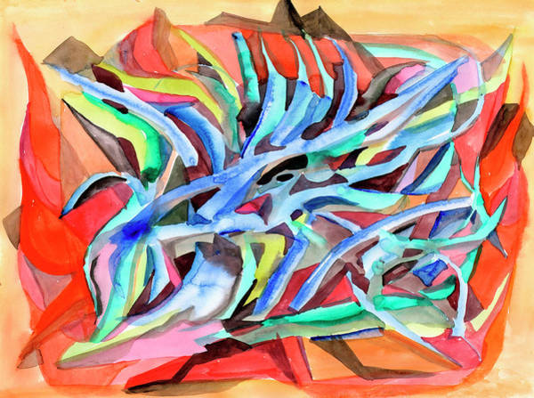 Painting - Abstraction Crystals by Irina Dobrotsvet